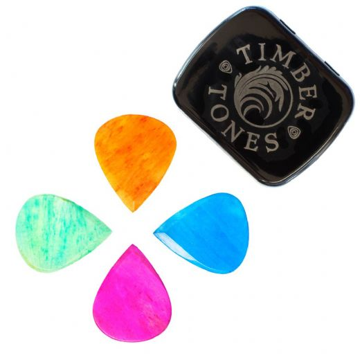 Jazzy Tones Max Mixed Tin of 4 Guitar Picks